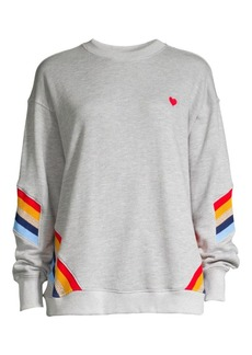 Rainbow Rib-Knit Stripe Sweatshirt
