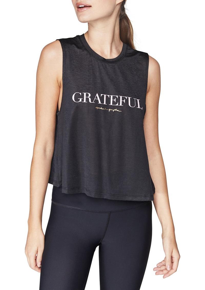 Spiritual Gangster Grateful Active Crop Tank
