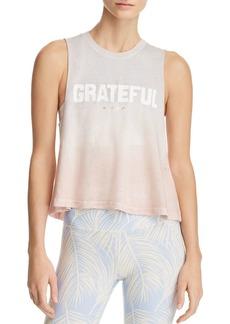 Spiritual Gangster Grateful Ombr� Cropped Tank