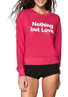 Spiritual Gangster Nothing but Love Savasana Crewneck Graphic Sweatshirt