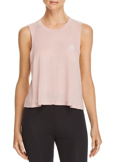 Spiritual Gangster Om Cropped Muscle Tank
