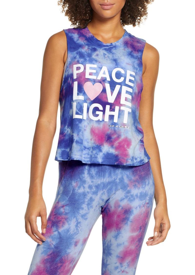 Spiritual Gangster Peace Love Light Tie Dye Cotton Crop Tank Top