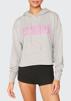 Spiritual Gangster Serena Heathered Logo Pullover Hoodie