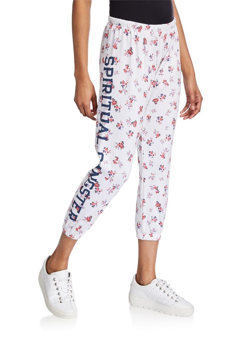Spiritual Gangster SGV Logo Floral-Print Perfect Sweatpants