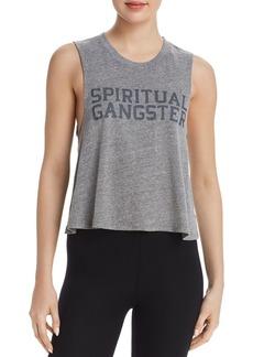 Spiritual Gangster Varsity Logo Cropped Tank