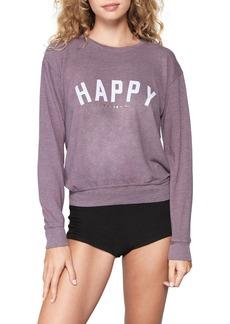 Women's Spiritual Gangster Happy Savasana Crewneck Sweatshirt