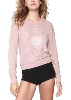 Women's Spiritual Gangster Moon Savasanna Crewneck Sweatshirt