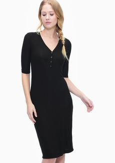 Splendid 2X1 Rib Henley Dress