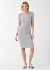 Splendid 2X1 Rib Henley Dress