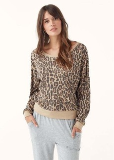 Splendid Academy Sweatshirt in Leopard