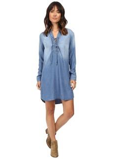 Splendid Adelise Indigo Lace-Up Shirtdress