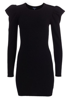 Splendid Allston Puff-Sleeve Rib-Knit Dress