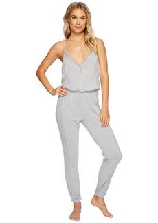 Splendid Always Long Lace Back Pajama Romper