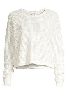 Splendid Angler Waffle Knit Sweater