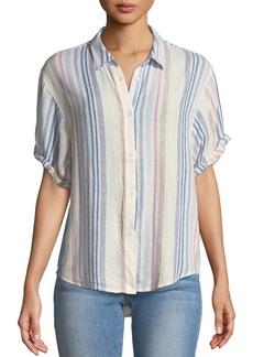Splendid Arco Iris Striped Button-Front Shirt