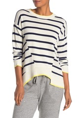 Splendid Asymmetrical Stripe Knit Pullover