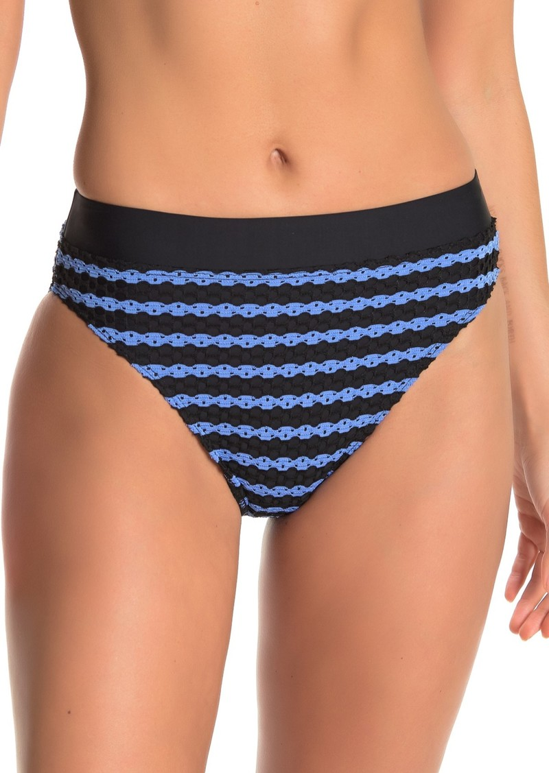 Splendid Avalon Eyelet High Waisted Bikini Bottoms