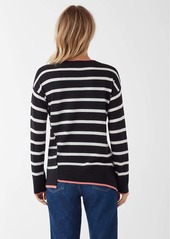 Splendid Avery Stripe Asymm Pullover