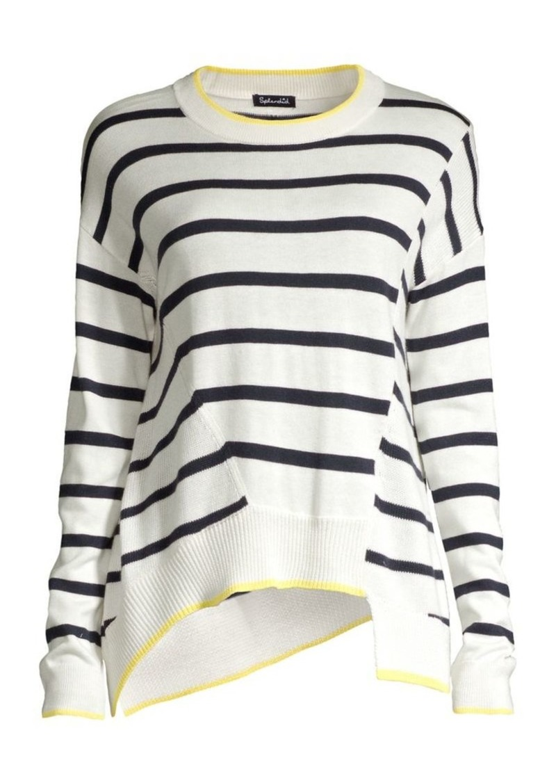 Splendid Avery Striped Asymmetric Knit Sweater