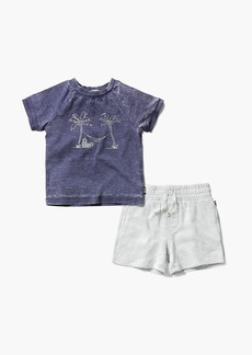 Splendid Baby Boy Burnout Screen Tee Set