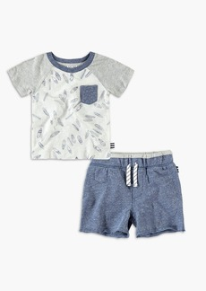 Splendid Baby Boy Feather Tee Set