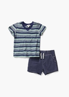 Splendid Baby Boy Stripe V-Neck Tee Set
