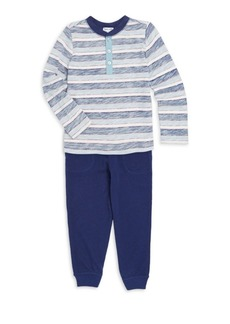 Splendid Baby Boy's & Little Boy'sTwo-Piece Reverse Stripe Set