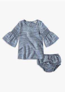 Splendid Baby Girl Bell Sleeve Midi Dress Set