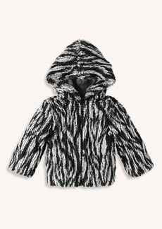 Splendid Baby Girl Braided Fur Jacket