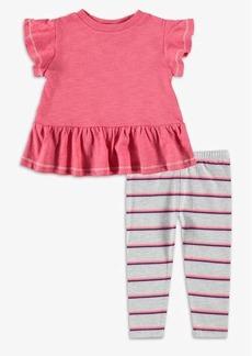 Splendid Baby Girl Stripe Gathered Hem Top Set