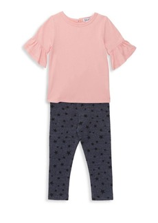 Splendid Baby Girl's & Little Girl's Two-Piece Bell Top & Star Print Leggings Set