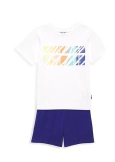 Splendid Baby's & Little Boy's 2-Piece Scratched Screen T-Shirt & Shorts Set