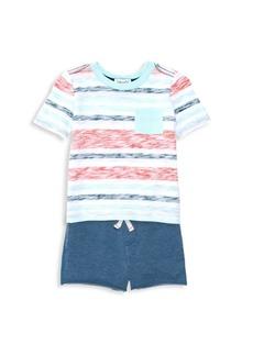 Splendid Baby's & Little Boy's Two-Piece Reverse Stripe Tee & Short Set