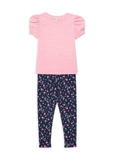 Splendid Baby's & Little Girl's 2-Piece T-Shirt & Floral Leggings Set
