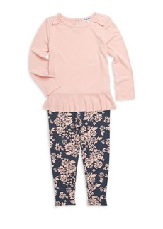 Splendid Baby's & Little Girl's Two-Piece Ruffle Top and Legging Set