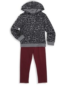 Splendid Baby's Girl's Two-Piece Leopard Print Sweater and Pants Set