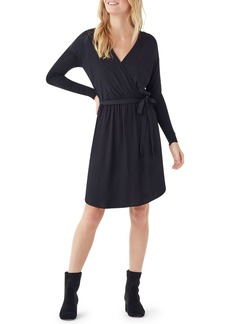 Splendid Balsa Mixed Media Long-Sleeve Dress