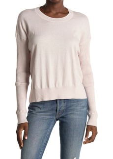 Splendid Bonfire Ribbed Sleeve Sweater