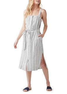 Splendid Bourne Slit Striped Dress