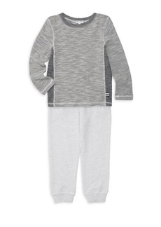 Splendid Baby Boy's & Little Boy's Mini-Waffle T-Shirt & Track Pants Set