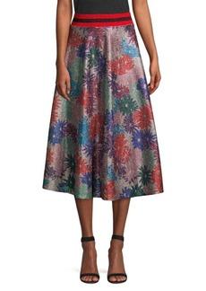 Splendid Brillaire Metallic Floral Skirt