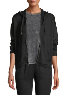 Splendid Brushed French Terry Zip-Front Hoodie