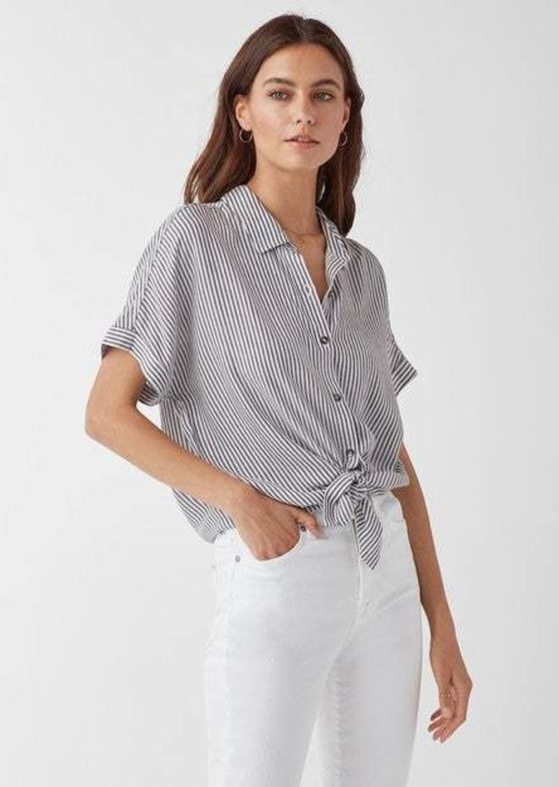 Splendid Canyon Short Sleeve Stripe Button Up Shirt