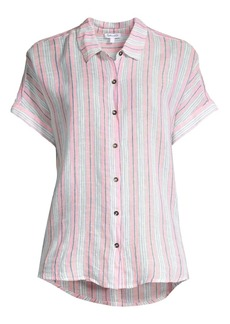 Splendid Canyon Striped Tie-Front Shirt