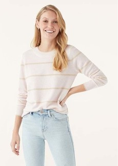 Splendid Cashmere Crewneck in Stripe