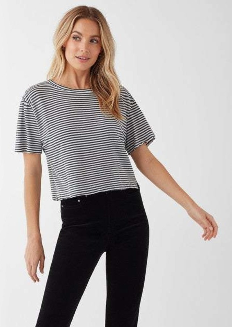Splendid Cass Crop Stripe Tee