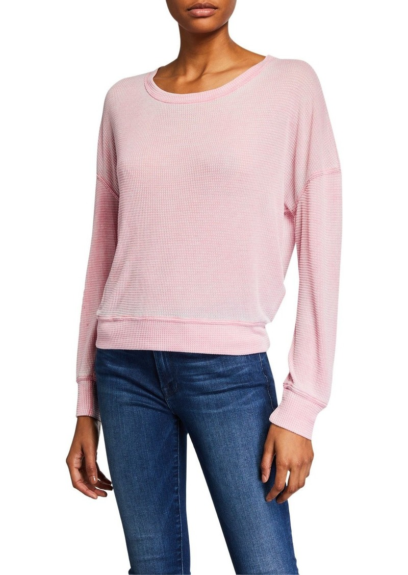 Splendid Catalina Burnout Thermal Long-Sleeve Top