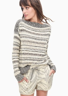 Splendid Cayes Stripe Pullover Sweater