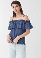 Splendid Chambray Off Shoulder Top