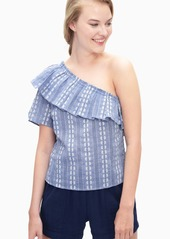 Splendid Chambray One Shoulder Top